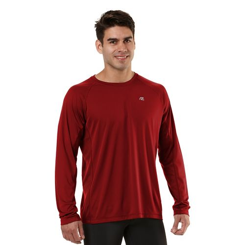 Mens Road Runner Sports Speed Play Crew Long Sleeve No Zip Technical Tops - Hotrod ...