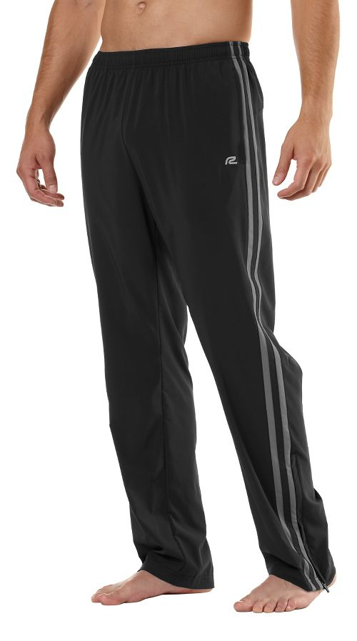 Mens Road Runner Sports Your Total Training Full Length Pants - Black/Steel S