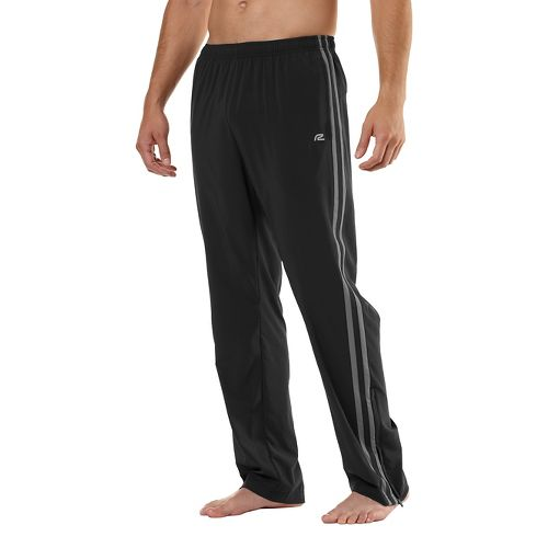 Mens Road Runner Sports Your Total Training Full Length Pants - Black/Steel M