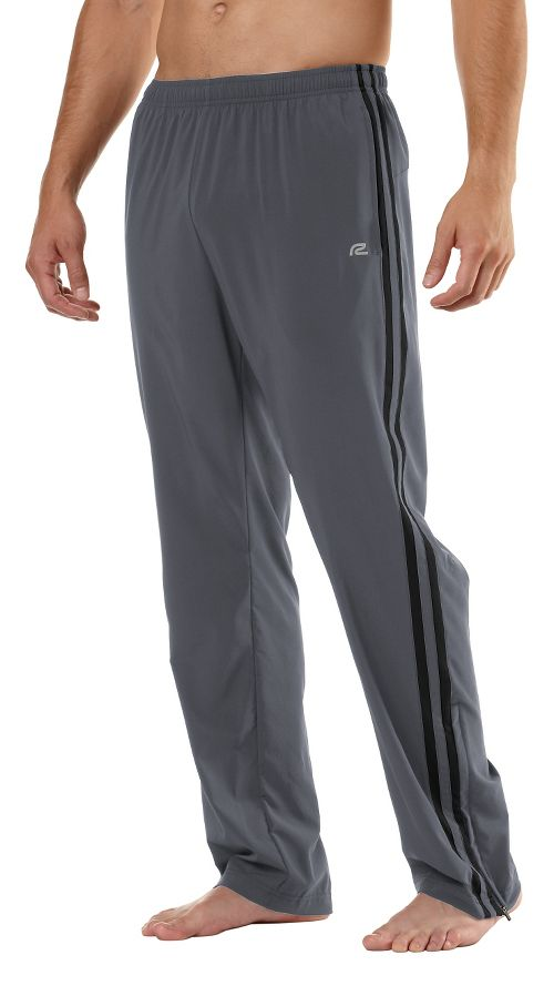 Mens Road Runner Sports Your Total Training Full Length Pants - Steel/Black L