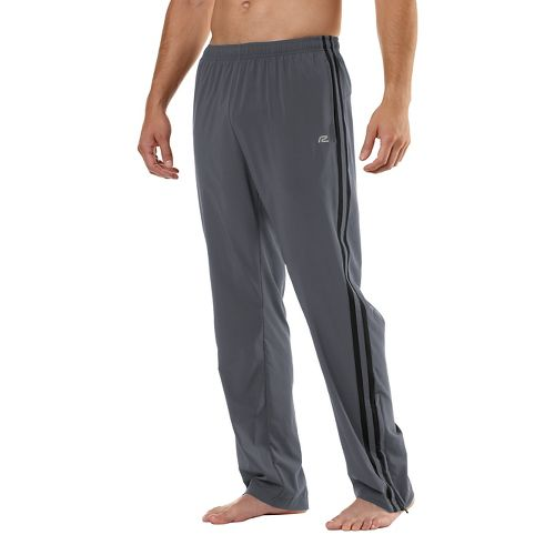 Mens Road Runner Sports Your Total Training Full Length Pants - Steel/Black S