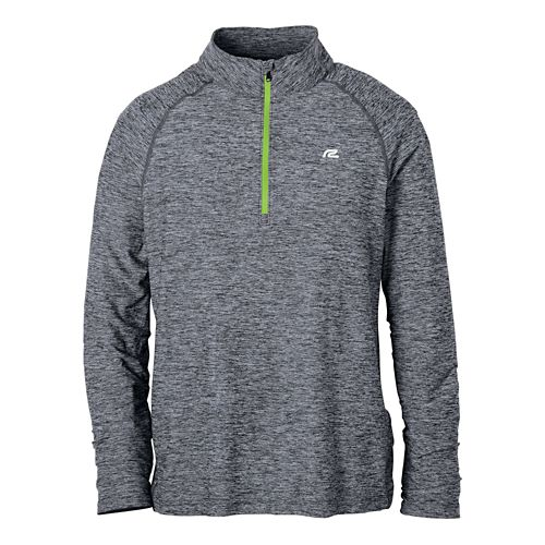Mens R-Gear In The Zone Long Sleeve 1/2 Zip Technical Tops - Charcoal S
