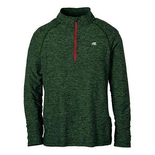 Mens R-Gear In The Zone Long Sleeve 1/2 Zip Technical Tops - Hunter Green XL ...