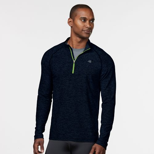Mens R-Gear In The Zone Half-Zip Long Sleeve Technical Tops - Midnight Blue XXL