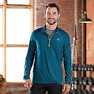 Mens R-Gear In The Zone Half-Zip Long Sleeve Technical Tops - Tempo Teal/Neon Glow XXL