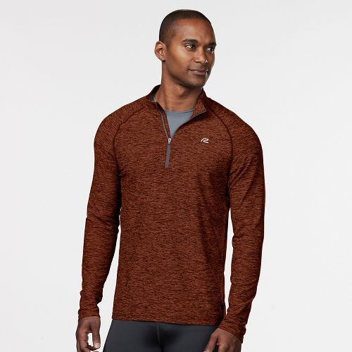 Mens R-Gear In The Zone Half-Zip Long Sleeve Technical Tops - Amber L