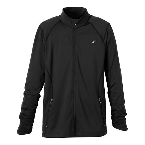 Mens R-Gear Latitude Outerwear Jackets - Heather Charcoal/Hotrod Red M