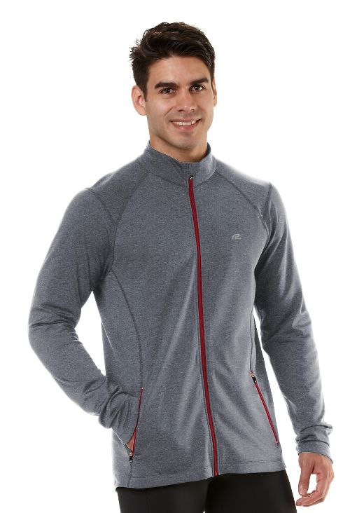 Mens R-Gear Latitude Outerwear Jackets - Heather Charcoal/Hotrod Red XL