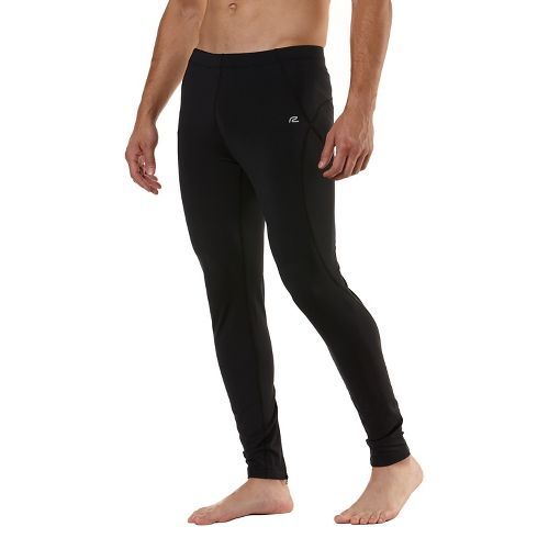 Mens Road Runner Sports Warmer Performer Fitted Tights - Black M