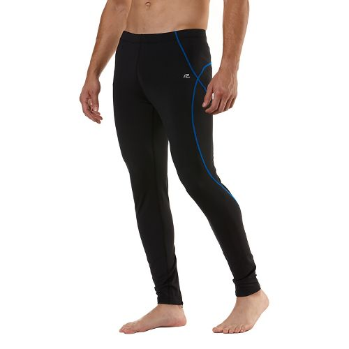 Mens Road Runner Sports Warmer Performer Fitted Tights - Black/Cobalt M