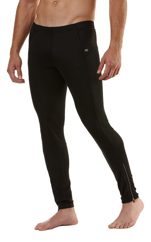 Mens Road Runner Sports Windrunner Fitted Tights - Black XXL