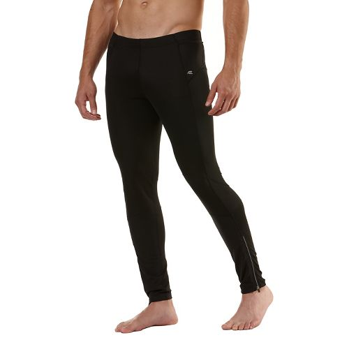 Mens Road Runner Sports Windrunner Fitted Tights - Black M