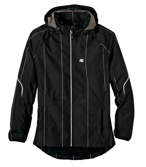 Mens Road Runner Sports Glow Getter Outerwear Jackets - Black M