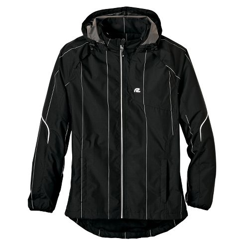 Mens Road Runner Sports Glow Getter Outerwear Jackets - Black XXL