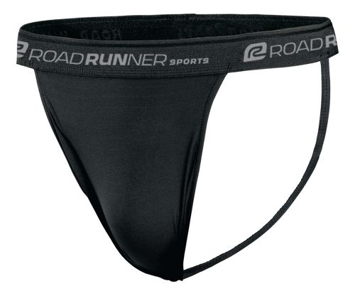 Mens Road Runner Sports DURAstrength Everyday Supporter 3 pack Underwear Bottoms - Black L