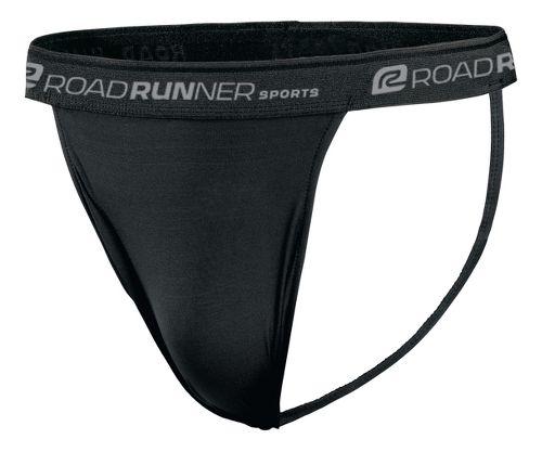 Mens Road Runner Sports DURAstrength Everyday Supporter 3 pack Underwear Bottoms - Black XL
