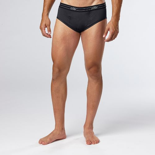 Mens Road Runner Sports DURAstrength Everyday Brief 3 pack Underwear Bottoms - Black L