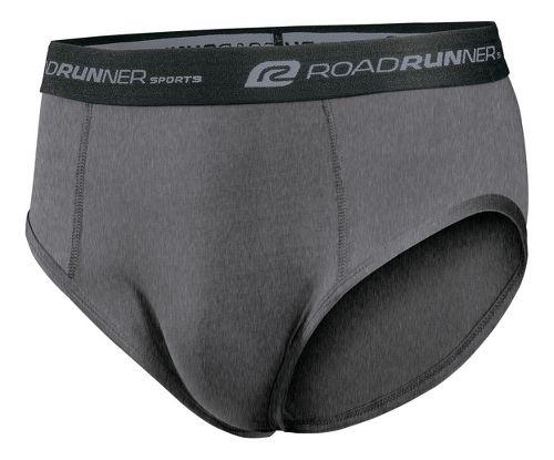 Mens Road Runner Sports DURAstrength Everyday Brief 3 pack Underwear Bottoms - Heather Grey XXL