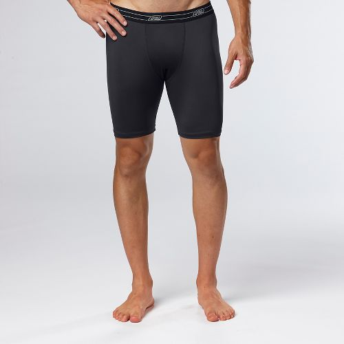 Mens Road Runner Sports DURAstrength Everyday Boxer Brief 2 pack Underwear Bottoms - Black M ...