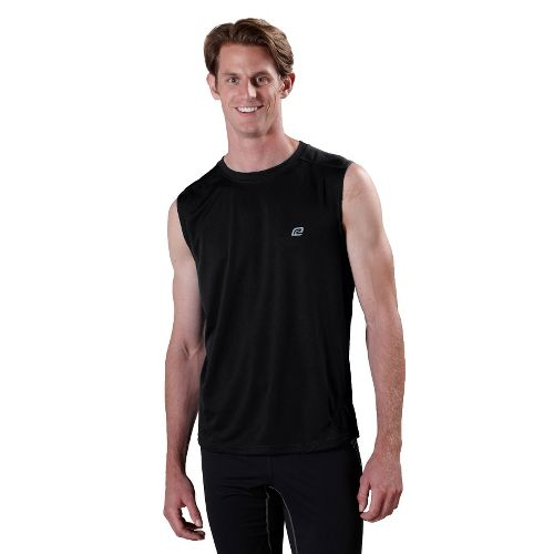 Mens ROAD RUNNER SPORTS Runner's High Sleeveless Technical Tops - Black XL