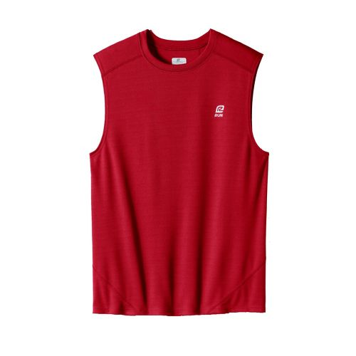 Mens ROAD RUNNER SPORTS Runner's High Sleeveless Technical Tops - Brick Red M