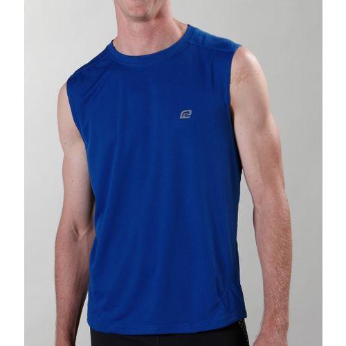 Mens ROAD RUNNER SPORTS Runner's High Sleeveless Technical Tops - Blue Ink L