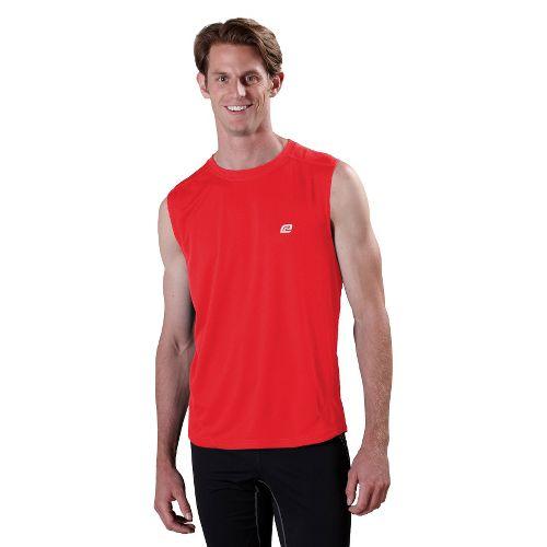 Mens ROAD RUNNER SPORTS Runner's High Sleeveless Technical Tops - Blazing Red XL