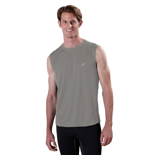 Mens ROAD RUNNER SPORTS Runner's High Sleeveless Technical Tops - Cinderblock XXL