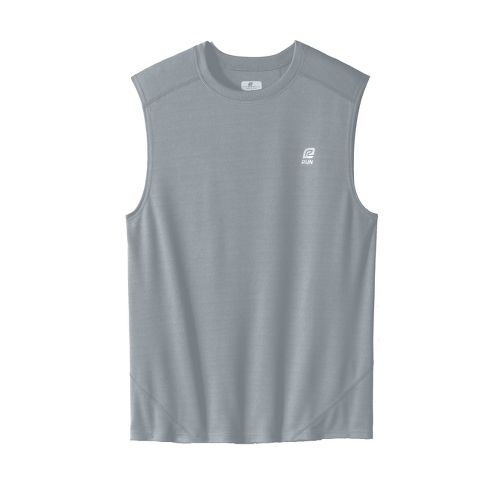 Mens ROAD RUNNER SPORTS Runner's High Sleeveless Technical Tops - Cement XXL
