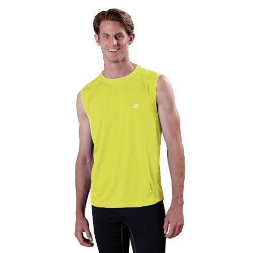 Mens ROAD RUNNER SPORTS Runner's High Sleeveless Technical Tops - Electrolyte L