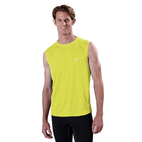 Mens ROAD RUNNER SPORTS Runner's High Sleeveless Technical Tops - Electrolyte XXL