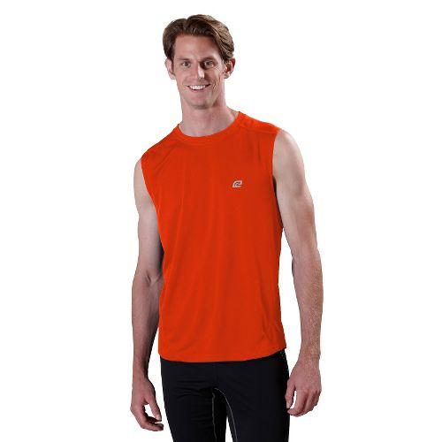 Mens ROAD RUNNER SPORTS Runner's High Sleeveless Technical Tops - Firecracker Orange XXL