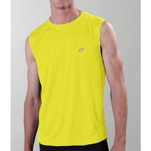 Mens ROAD RUNNER SPORTS Runner's High Sleeveless Technical Tops - Gold L