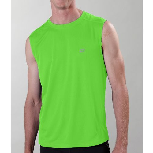 Mens ROAD RUNNER SPORTS Runner's High Sleeveless Technical Tops - Green Jolt M