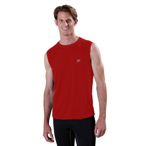 Mens ROAD RUNNER SPORTS Runner's High Sleeveless Technical Tops - Hotrod Red L