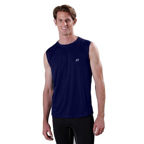 Mens ROAD RUNNER SPORTS Runner's High Sleeveless Technical Tops - Midnight Blue M
