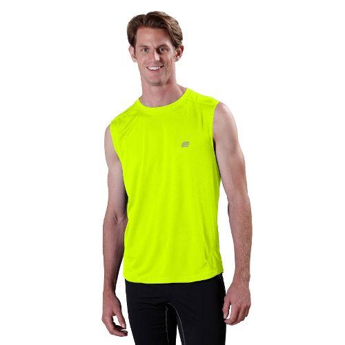 Mens ROAD RUNNER SPORTS Runner's High Sleeveless Technical Tops - Neon Glow M