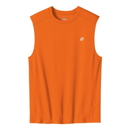 Mens ROAD RUNNER SPORTS Runner's High Sleeveless Technical Tops - Orange S