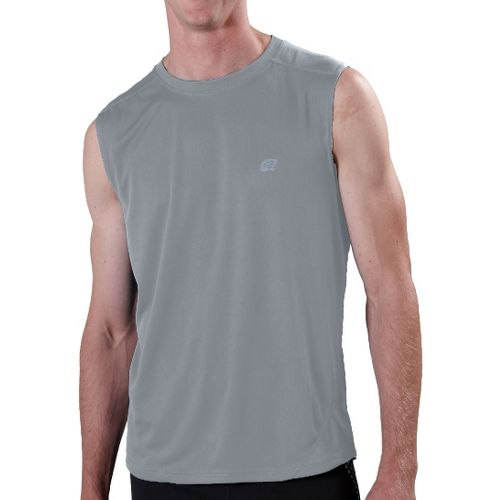 Mens ROAD RUNNER SPORTS Runner's High Sleeveless Technical Tops - Smoke XL
