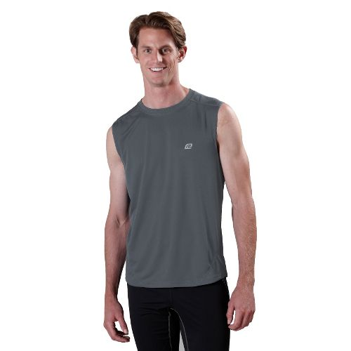 Mens ROAD RUNNER SPORTS Runner's High Sleeveless Technical Tops - Steel L