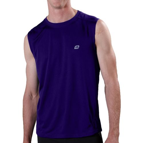 Mens ROAD RUNNER SPORTS Runner's High Sleeveless Technical Tops - Victory Purple XL
