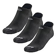 R-Gear Drymax Dry-As-A-Bone Thin Cushion No Show 3 pack Socks - Black M