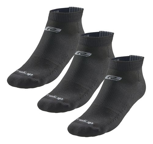 Road Runner Sports Drymax Dry-As-A-Bone Thin Cushion Low 3 pack Socks - Black M