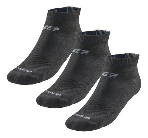Road Runner Sports Drymax Dry-As-A-Bone Thin Cushion Low 3 pack Socks - Black XXL