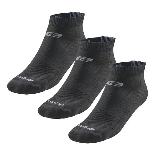 Road Runner Sports Drymax Dry-As-A-Bone Thin Cushion Low 3 pack Socks - Black XXL