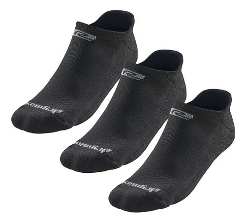 Road Runner Sports Drymax Dry-As-A-Bone Medium Cushion No Show Tab 3 pack Socks - Black L