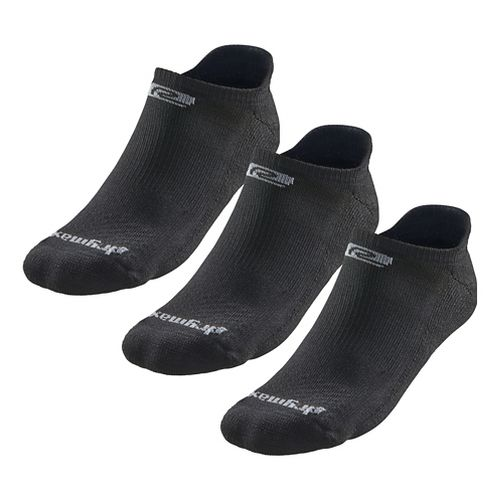 Road Runner Sports Drymax Dry-As-A-Bone Medium Cushion No Show Tab 3 pack Socks - Black M