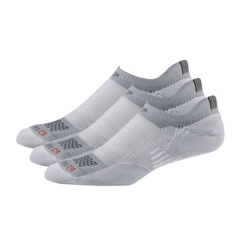 Road Runner Sports Drymax Dry-As-A-Bone Medium No Show 3 pack Socks - Grey S