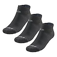 Road Runner Sports Drymax Dry-As-A-Bone Medium Cushion Low Cut 3 pack Socks - Black M