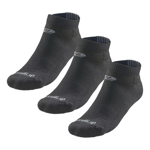 Road Runner Sports Drymax Dry-As-A-Bone Medium Cushion Low 3 pack Socks - Black S